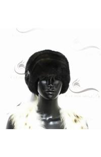 Мягкая норковая шапка черного цвета Д11