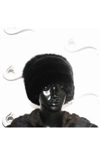 Норковая шапка со вставкой из меха лисы Д8