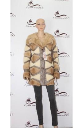 2219 куртка кожаная с норкой Б/У