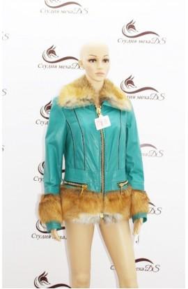 куртка из кожи и лисы 1450