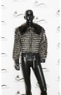 1128 куртка из чернобурки БУ