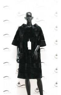 Шуба из норки угольного цвета БУ 1183