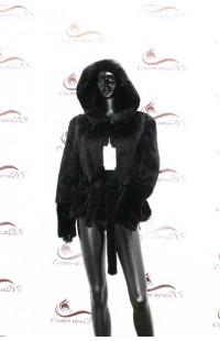 Короткая черная норковая шуба БУ 1347