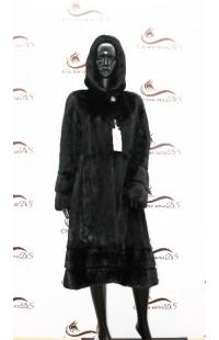 черная норковая шуба БУ 1388
