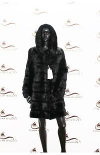 норковая шуба черного цвета БУ 1395