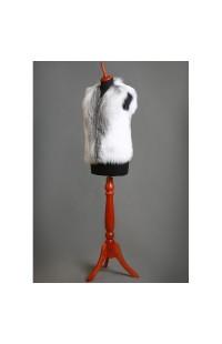 Меховой жилет из меха арктической лисы, на заказ 000106