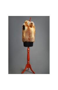 Меховой жилет из меха лисы с воротником, на заказ 000107