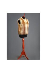 Меховой жилет из меха лисы, на заказ 000109